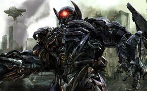 Обои dark, moon, Transformers Dark of the Moon, movie, shockwave