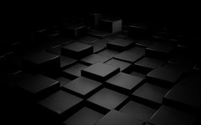 Обои абстракция, рендеринг, кубики, фигуры, 1920x1080, abstraction, cubes, figures