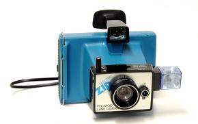 Обои Electric Zip, 1975-78, фотоаппарат, Polaroid, фон