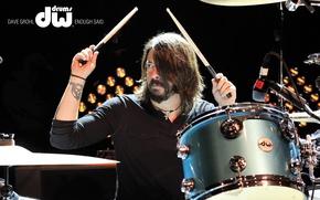 Картинка барабаны, барабанщик, foo fighters, Дэйв Грол, Dave Grohl