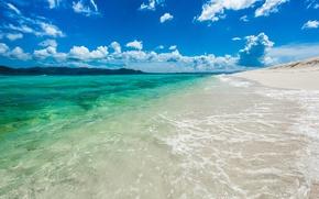 Картинка лето, океан, поляж, British Virgin Islands, Sandy Cay Island