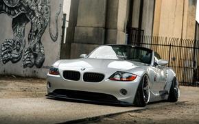 Картинка car, бмв, родстер, tuning, автообои, bmw z4, hq wallpaper, low ride