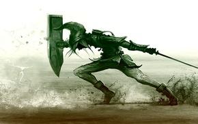 Картинка меч, щит, рыцарь, пролом
