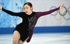 Картинка girl, figure, Yuna, Kim, Skating, Corea, Olimpic
