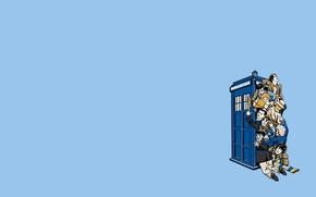 Картинка фон, ситуация, будка, Doctor Who, Доктор Кто, ТАРДИС, TARDIS