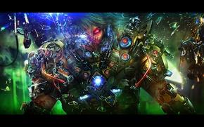 Картинка взгляд, лицо, фантастика, арт, киборг, Cyber Soldier