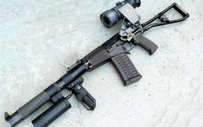 Картинка автомат, фонарь, патрон, automatic, ночной, прицел, винтовка, special, глушитель, винтовки, sniper, приклад, silent, Российский, that, …