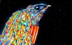 Картинка цвета, звезды, птица, сокол, matei apostolescu, взрывчатка