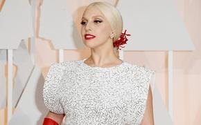 Картинка девушка, красный, стиль, женщина, волосы, макияж, music, платье, актриса, певица, red, girl, fashion, знаменитость, мода, …