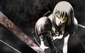 Картинка меч, аниме, воин
