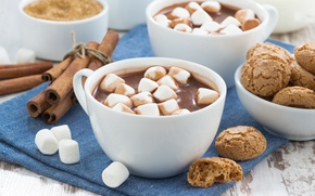 Картинка печенье, корица, какао, маршмеллоу