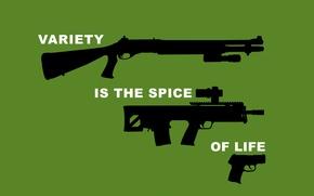 Обои пистолет, дробовик, винтовка