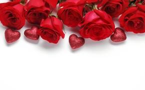 Картинка love, сердце, Valentine's Day, heart, любовь, розы, romantic