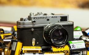 Картинка камера, фотоаппарат, объектив, ZORKI-4K