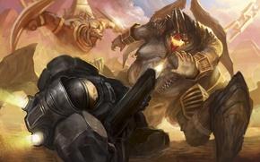 Обои starcraft, diablo, Jim Raynor, Heroes of the Storm, Azmodan