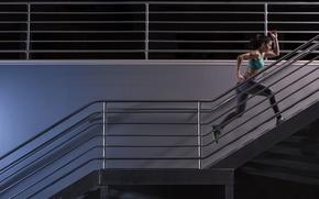Обои fitness, running, sportswear, workout, stairs