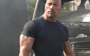 Картинка USA, actor, american, Dwayne Johnson, Dwayne, pilot, strong, San Andreas, muscular, bald, 2015, during filming, …