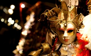 Картинка gold, mask, chains
