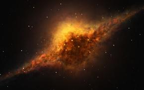 Картинка космос, звезды, рисунок