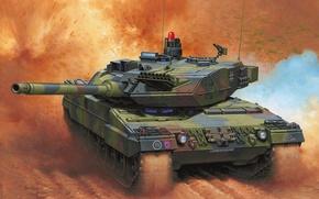 Обои рисунок, танк, германия, Enzo Maio, бундесвер, ОБТ, Леопард 2А6