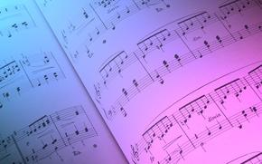 Обои цвет, ноты, бумага