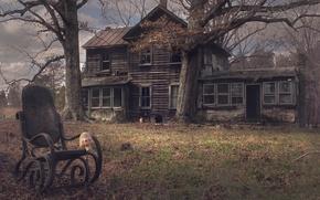 Картинка дом, фон, стул