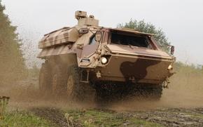 Картинка fox, armored, Rheinmetall, Bundeswehr, Transportpanzer, amphibious, TPz, Fuchs, Thyssen-Henschel, German army, MG3 machine guns, combat …