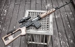 Картинка оружие, прицел, винтовка, снайперская, Драгунова