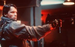 Картинка мужик, автомат, актер, Актер, Арнольд Шварценеггер, молодой, Терминатор, Продюсер, Режиссер, Arnold Schwarzenegger