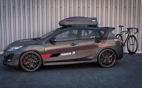 Картинка графика, арт, dangeruss, Mazdaspeed3, спортивная модификация, MPS, cycling edition, Mazda Performance Series