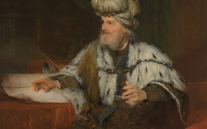 Картинка портрет, картина, религия, мифология, Арт де Гелдер, Царь Давид