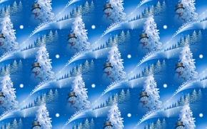 Картинка фон, праздник, текстура, Новый год, снеговик, ёлочка