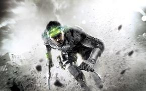 Картинка green, knife, run, sam fisher, splinter cell blacklist