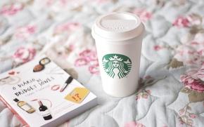 Картинка стакан, настроения, книги, кровать, кружка, чашка, кофе старбакс, starbucks, дневник