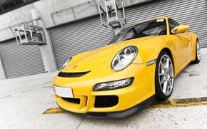 Картинка класс, жёлтая, немец, Porshe 911