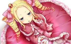 Картинка девочка, тортик, хвостики, Beatrice, Re: Zero kara Hajimeru Isekai Seikatsu
