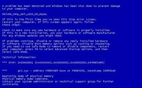 Обои минимализм, синий экран, BSOD