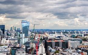 Картинка Англия, Лондон, здания, панорама, Великобритания, London, England, United Kingdom