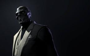 Обои взгляд, костюм, галстук, пиджак, убийца, Black Mask, Batman: Arkham Origins, Warner Bros. Interactive Entertainment, суперзлодей, ...