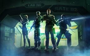 Обои оружие, персонажи, бойцы, хранилище, Перекрестный огонь, Thunder Vault, CrossFire