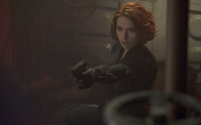 Картинка Scarlett Johansson, Girl, Action, Red, Fantasy, Hero, Beautiful, Electro, the, from, with, Wallpaper, Guns, Eyes, ...