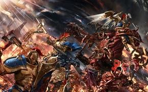 Картинка фантастика, война, битва, Warhammer, art, Warhammer Age of Sigmar, Gates of Azyr