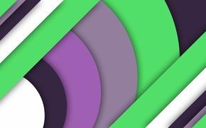 Картинка белый, линии, зеленый, сиреневый, геометрия, material