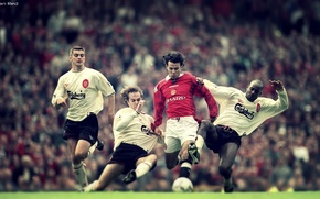 Картинка футбол, football, manchester united, ryan giggs, soocer