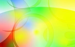 Обои цвет, круг, кольцо, объем, узор