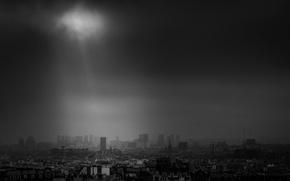 Картинка Paris, storm, France, sunray
