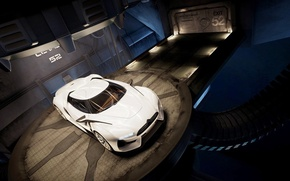 Картинка машина, белая, citroen gt, concept car
