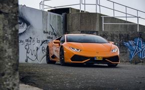 Картинка Lamborghini, Orange, Huracan, LP610-4