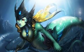 Картинка море, хвост, nami, lol, League of Legends, Tidecaller