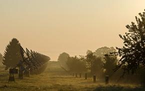 Картинка туман, утро, радары